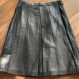 Genuine leather skirt by Elizabeth and James sz0